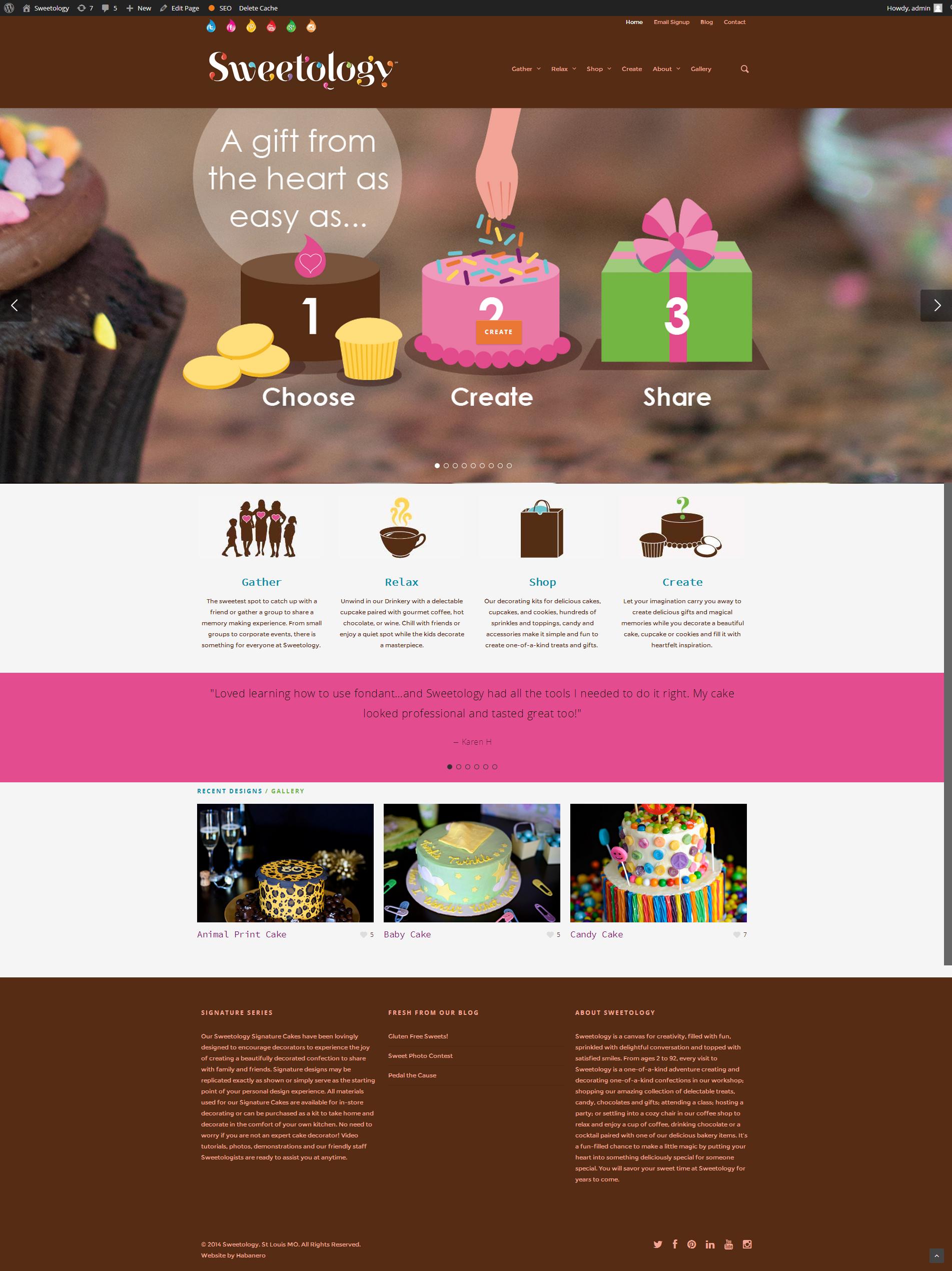 Sweetology Wordpress Site E Commerce Habanero St Louis Digital Marketing Agency Web Design Web Applications Mobile Applications Social Media