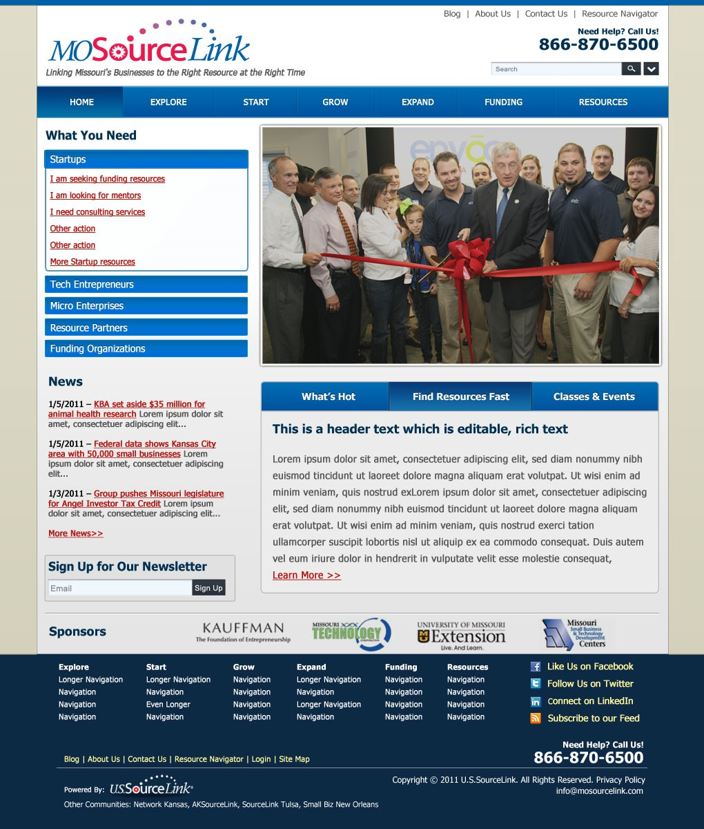 MOSourceLink Sitefinity Website Redesign - Habanero - St  Louis